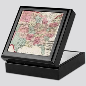 Vintage United States Map (1870) Keepsake Box